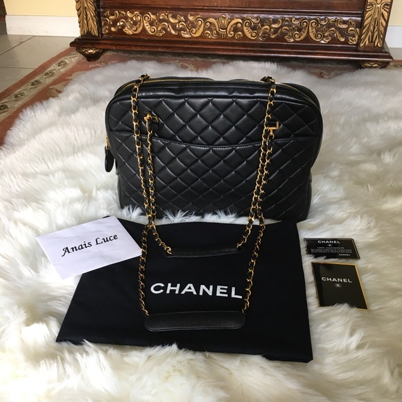 0501749d5dc409 CHANEL Handbags - Chanel Black Lambskin Quilted Shoulder Camera Bag